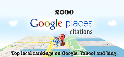 2000 Google Map Citations with Backlinks for Local SEO. Google Rank, SEO