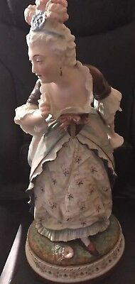 1800's Jean Gille Vion and Baury Lady Bisque Figurine Rare Very Large