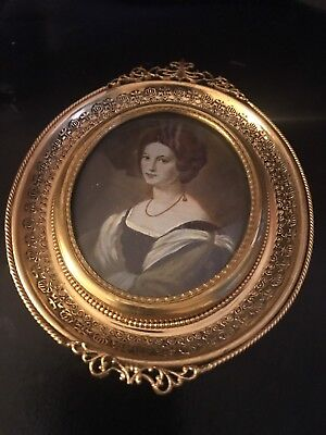Beautiful Enamel On Brass/Copper Painting Plaque 18thC Signed