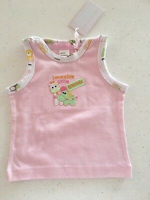 Baby Ka-boosh Gorgeous Pink Baby Girl Singlet. New With Tags.  0000