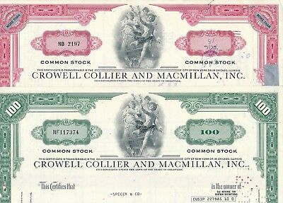 2 x Crowell Collier and Macmillan, Inc.