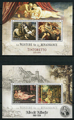 Ivory Coast 2017 MNH Renaissance Paintings Tintoretto 2v M/S I & II Art Stamps