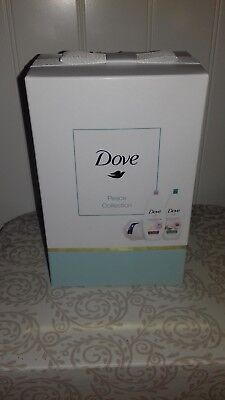Dove Body Wash gift set. Peace Collection containing 2 body washes & shower puff
