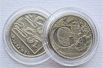 Coin Capsules Plastic Holder  25 mm  [ 10 pence ]  10, 20 , 50 , 100 capsules