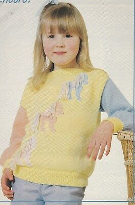 Girl's 'pony' Sweater Pattern For Machine Knitting