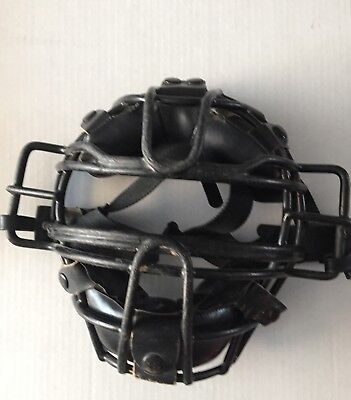 Vintage Umpire / Catchers mask with plate brush and count clicker