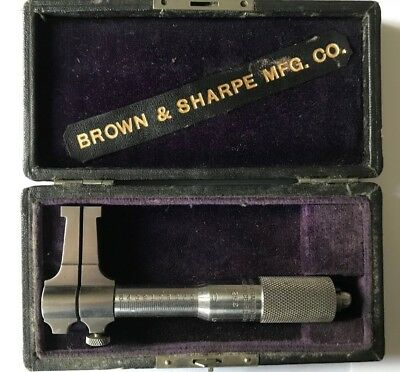 Vintage Brow & Sharp .5 - 1.5  252 Inside Caliper Micrometer/machinist Tool