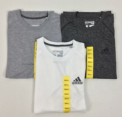 New Adidas Men's Short Sleeve Ultimate T Shirt Performance Climalite Variety