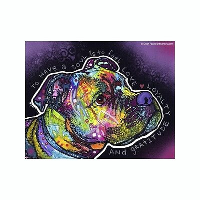 Pit Bull To Have A Soul Is To Feel Love Dean Russo Vinyl Dog Car Decal Sticker