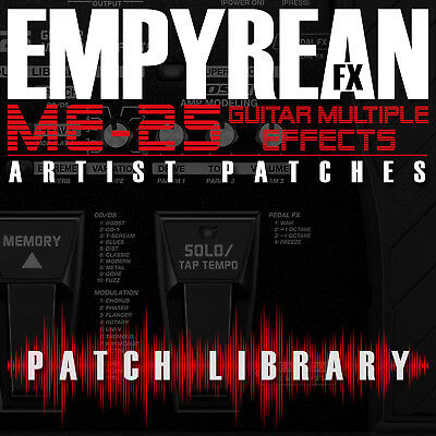 BOSS ME-25 ARTIST Patches Guitar Effects Settings Presets FREE FAST SHIPPING