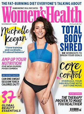 Women's Health Magazine November 2017 ~ Michelle Keegan Cover ~ New ~
