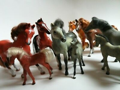 LOT 9 Vintage Grand Champion Toy Horse Herd Figurine Vintage Collectibles USED