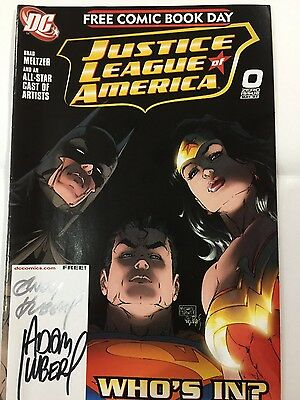 Justice League of America #0 signed by Andy & Adam Kubert
