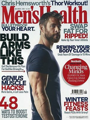 Men's Health Magazine November 2017 ~ Chris Hemsworth Thor Workout ~ New ~