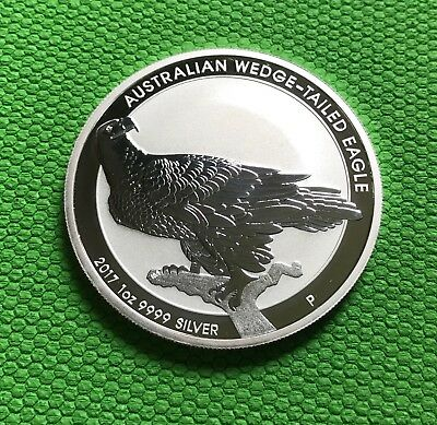 2017 1 oz Silver Australian Wedge-Tailed Eagle .9999 Bullion Coin.