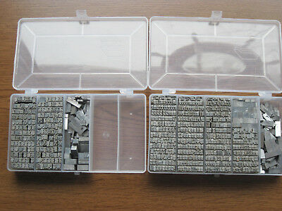 18 pt.? Old English Letterpress Metal Type Set