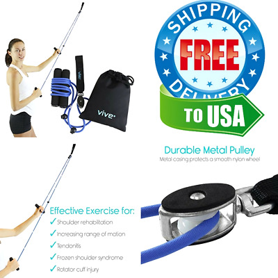 Over The Door Exercise Pulley Arm Shoulder Home Physical Therapy Rehab  Equipment