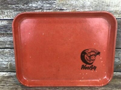 Herfy's Drive In Burgers Vintage Dine In Tray Fast Food Orange Camtray Rare!