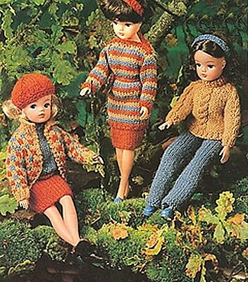 Vintage Doll Clothes Knitting Patterns 110 Picclick Uk