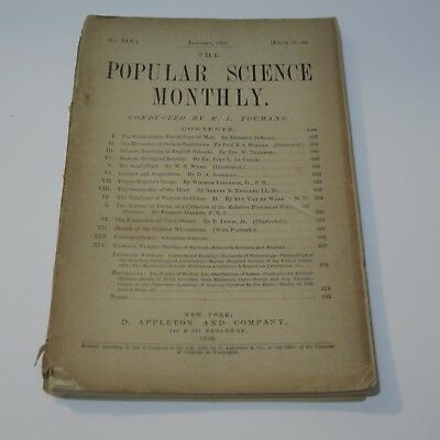 Vintage Popular Science Monthly Magazine - January 1876