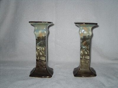 Royal Doulton English Cottages candlesticks