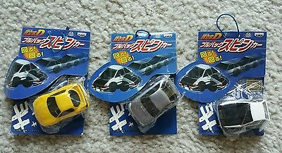 Initial D Char Q Cars Set Of 3 RX-7 AE86 Impreza