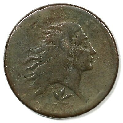 1793 S-9 R-2 Wreath Large Cent Coin 1c