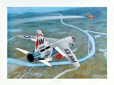 'Pirate's Bounty' [F-8] Artist Proof Print sign Lt.Cdr. John Nichols Mike Machat