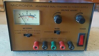 Micronta 22 - 121 Dual Tracking DC Power Supply 0 - 15 VDC 1 Amp