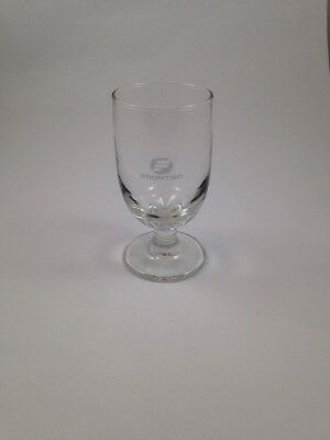 Vintage Collectible Frontier Airlines Stemmed Cocktail Wine Glass Bar Glassware