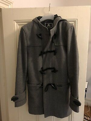 Jack London Grey Wool Duffle Coat - 36/46 (small)