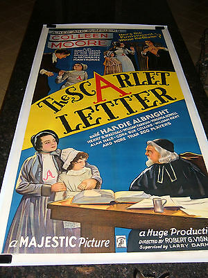 "THE SCARLET LETTER Original Movie Poster, 41"" x 79"", C8.5 Very Fine/Near Mint"