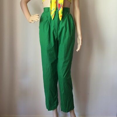 Vintage Christian Dior Sport Green Trouser Pants Small 26
