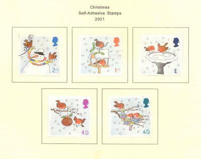 2001, Christmas  -  set of used stamps from the UK