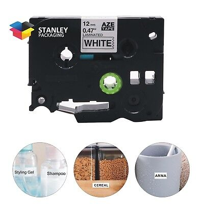 Compatible for Brother TZ-231 Black on White P-Touch Label Tape TZe231 12mm