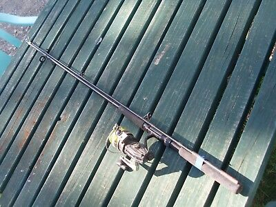 sporting goods fishing rod near vintage veteran collectable cast line and reel $