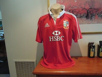 British Lions Jersey Rugby Adidas Climalite Men's Size XL