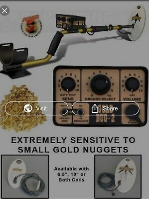 """Fisher Gold Bug 2 Combo Metal Detector with 6.5"""" and 10"""" Elliptical Coils"""