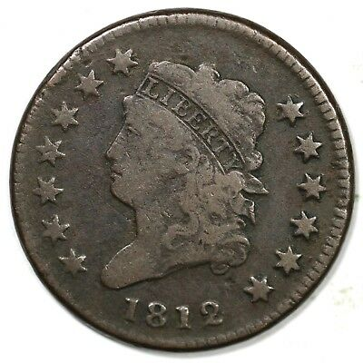 1812 Small Date Classic Head Large Cent Coin 1c