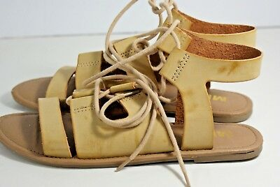 44789c83b80b MIA Delphine Women s Size 6 Tan Gladiator Supple Leather Sandals Casual Lace -up