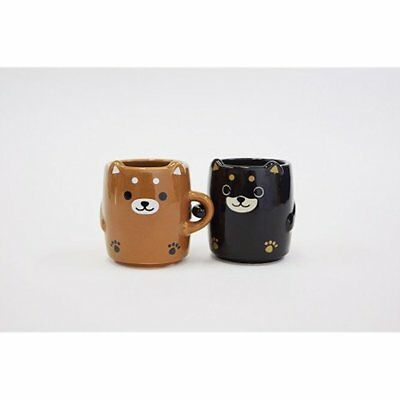 You I Brown Black Shiba Inu Dog Pair Yunomi Cup Lf 0960 GIFT NEW
