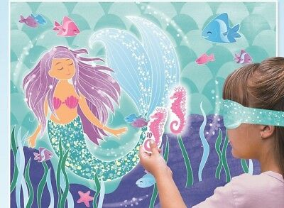 Mermaid Party Fun Games Blindfold Stick The Seahorse On Favour Game Birthday Kid