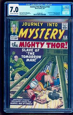 JOURNEY INTO MYSTERY #102 CGC 7.0 **GORGEOUS LOOKS BETTER THAN 8.0** Unpressed!