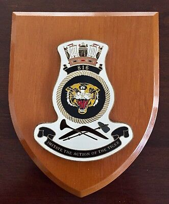 PLAQUE SHIELD 816 SQUADRON ~ ROYAL AUSTRALIAN NAVY Military helicopter Submarine