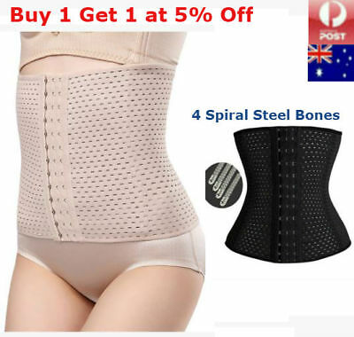 Waist Trainer Body Shaper Steel Boned Training Tummy Cincher Corset Bustier Slim
