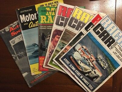 Bulk Lot Of 7 x Australian Racing Car Magazines From 1960's & 1970's
