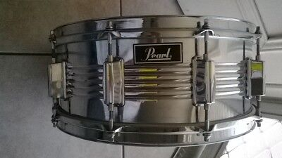 "Pearl 14"" x 6"" (36 cm x 16 cm) 10 Lug Steel Concert Snare Drum, Remo Soundmaster"