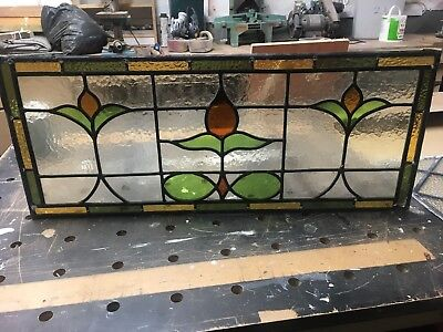 Stained  Glass Over Door  Panel 800 Mm By 330  Mm.