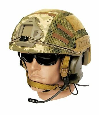 "Ballistic IIIA Bullet Proof High Cut Helmet + DISK + cover ""UA pixel"""