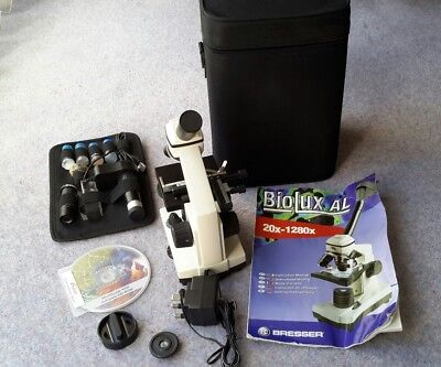 Bresser Biolux AL Microscope, Accessories. Excellent but missing one eyepiece.